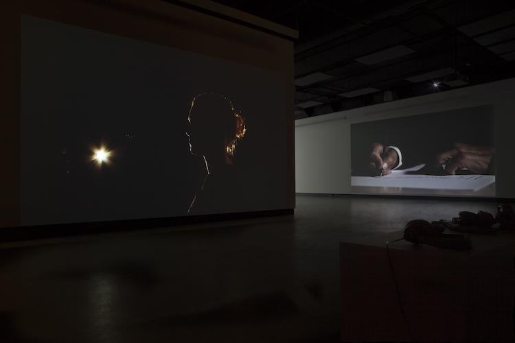 © Damir Očko, vue de l'exposition. Photo : Marilou Crispin