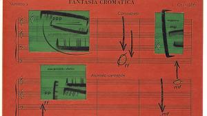 © Luciano Ori, Fantasia Chromatica, mixed media (1986) (detail)